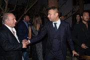 Sir Philip Green and Kamal Hotchandani attend Sir Philip Green Hosts Dinner In Celebration Of Topshop Topman Miami Store Opening at Cecconi's at Soho Beach House on November 18, 2017 in Miami Beach, Florida.