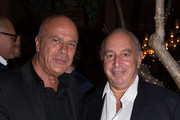 Benny Shabtai and Sir Philip Green attend Sir Philip Green Hosts Dinner In Celebration Of Topshop Topman Miami Store Opening at Cecconi's at Soho Beach House on November 18, 2017 in Miami Beach, Florida.