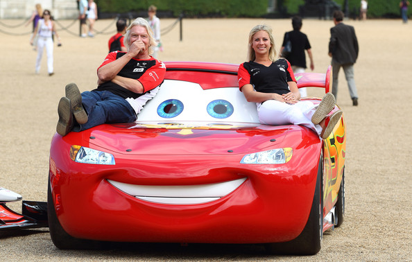 Sir Richard And Holly Branson Meet 'Cars 2' Characters ...