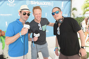 (L-R) SiriusXM Host Danny Valentino, SiriusXM's Ben Harvey and Head of EDM Programming of SiriusXM Geronimo prepare to interview at SiriusXM Celebrates 10th Anniversary Of The SiriusXM Music Lounge At 1 Hotel South Beach Leading Up To Ultra Music Festival; SiriusXM Music Lounge Airs Live On SiriusXM's UMF Radio  - Day 1 on March 16, 2016 in Miami, Florida.