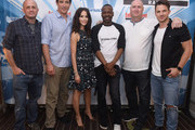 Eric Kripke, Goran Visnjic, Abigail Spencer, Malcolm Barrett, Shawn Ryan and Matt Lanter attend SiriusXM's Entertainment Weekly Radio Channel Broadcasts From Comic Con 2017 at Hard Rock Hotel San Diego on July 20, 2017 in San Diego, California.