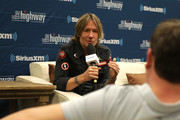 Keith Urban  spreaks at the SiriusXM's The Highway broadcast backstage leading up to the Academy of Country Music Awards at MGM Grand Garden Arena on April 6, 2019 in Las Vegas, Nevada.