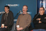 """Timothy Simons, Matt Walsh and Kevin Dunn attend SiriusXM's Julie Mason Hosts """"Inside Veep,"""" A Special Event With Veep's Frank Rich, Matt Walsh, Timothy Simons, And Kevin Dunn at SiriusXM Studios on April 8, 2015 in New York City."""