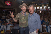 Drake White and Buzz Brainard performs on SiriusXM's The Music Row Happy Hour Live On The Highway From Margaritaville in Nashville June 7, 2018 in Nashville, Tennessee.