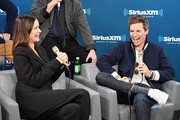 """Actors Katherine Waterston and Eddie Redmayne take part in SiriusXM's Town Hall with the cast of """"Fantastic Beasts:The Crimes Of Grindelwald' on Entertainment Weekly Radio hosted by Jess Cagle at the SiriusXM Studio on November 5, 2018 in New York City."""