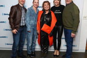 (L-R) Actors Michael Fishman, Lecy Goranson, Roseanne Barr, Sarah Chalke and John Goodman pose for photos during SiriusXM's Town Hall with the cast of Roseanne on March 27, 2018 in New York City.