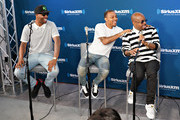 Pimpin, Bow Wow and Jermaine Dupri take part in SiriusXM's Town Hall with Jermaine Dupri at SiriusXM Studios on June 15, 2018 in New York City.