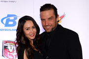 Roxanne Lavin (L) and her husband, BMX rider and television host T.J. Lavin, arrive at the sixth annual Fighters Only World Mixed Martial Arts Awards at The Palazzo Las Vegas on February 7, 2014 in Las Vegas, Nevada.