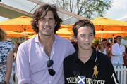 (L-R) Nacho Figueras, Hilario Figueras, and Artemio Figueras attend the sixth annual Veuve Clicquot Polo Classic on June 1, 2013 in Jersey City.