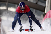 Jerry Rice of Great Britain trains during the Mens Skeleton training session on day four of the PyeongChang 2018 Winter Olympic Games at Olympic Sliding Centre on February 13, 2018 in Pyeongchang-gun, South Korea.