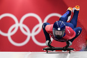 Jerry Rice of Great Britain slides during the Men's Skeleton at Olympic Sliding Centre on February 16, 2018 in Pyeongchang-gun, South Korea.