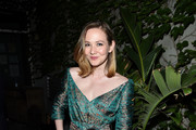 """Louisa Krause attends the """"Skin"""" New York Screening After Party at Gitano Jungle Terraces on July 24, 2019 in New York City."""