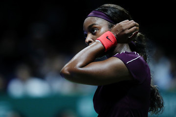 Sloane Stephens BNP Paribas WTA Finals Singapore Presented By SC Global - Day 1