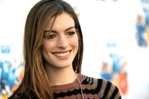 Actress Anne Hathaway arrives