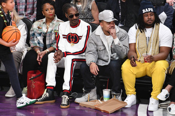 Snoop Dogg Celebrities At The 67th NBA All-Star Game: Team LeBron Vs. Team Stephen