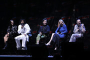 (L-R) Jennifer Connelly, Daveed Diggs, Alison Wright, Mickey Sumner and Lena Hall speak onstage at the Snowpiercer panel during New York Comic Con at Hammerstein Ballroom on October 05, 2019 in New York City.