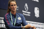 Jill Scott of Manchester City talks during day 1 of the Soccerex Global Convention at Manchester Central Convention Complex on September 4, 2017 in Manchester, England.