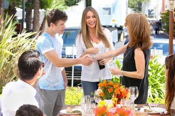 Sofia Vergara MasterCard Stands Up To Cancer With The Priceless Table At The Fox Lot, Near The Set Of Modern Family