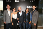 (L-R) Writer Kevin Murphy, actress Paola Nunez, show creator Philipp Meyer, actor Zahn McClarnon and actor Henry Garrett attend AMC's 'The Son' FYC Screening & Panel Discussion on April 15, 2017 in Los Angeles, California.