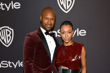 Sonequa Martin-Green Kenric Green The 2019 InStyle And Warner Bros. 76th Annual Golden Globe Awards Post-Party - Red Carpet