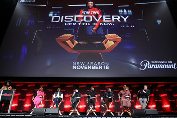 Sonequa Martin-Green Mary Wiseman Paramount+ Brings Star Trek: Prodigy Cast And Producers To New York Comic Con For Premiere Screening & Panel