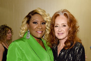 Patti LaBelle and Bonnie Raitt pose backstage during the Songwriters Hall Of Fame 50th Annual Induction And Awards Dinner at The New York Marriott Marquis on June 13, 2019 in New York City.