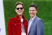 (L-R) Jim Carrey and Jeff Fowler attend Sonic The Hedgehog Family Day Event on January 25, 2020 in Hollywood, California.