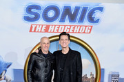 "Producer Neal H. Moritz (L) and Jim Carrey attend the ""Sonic the Hedgehog"" London Fan Screening at Vue Westfield on January 30, 2020 in London, United Kingdom."