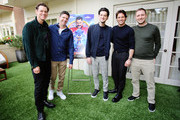 "(L-R) Jim Carrey, Director Jeff Fowler, Ben Schwartz, James Marsden and Producer Toby Ascher attend the ""Sonic The Hedgehog"" Parent Blogger / Influencer Conference featuring James Marsden, Ben Schwartz & Jim Carrey with host Heather Brooker at the Four Seasons Los Angeles at Beverly Hills on January 24, 2020 in Los Angeles, California."