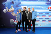 "Julien Bam, Jim Carrey, Jeff Fowler and producer Neal H. Moritz attend the Special Screening of ""Sonic the Hedgehog"" at Zoo Palast on January 28, 2020 in Berlin, Germany."