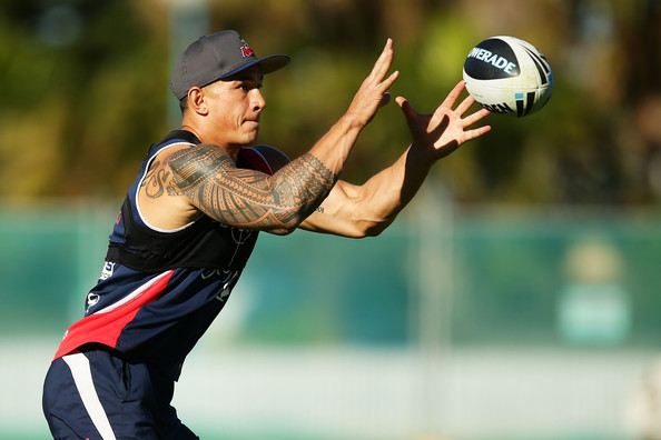 Sonny Bill Williams Sonny Bill Williams takes a pass during a Sydney ...