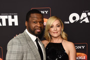 """Curtis """"50 Cent"""" Jackson (L) and Elisabeth Rohm arrive at Sony Crackle's """"The Oath"""" Season 2 exclusive screening event at Paloma on February 20, 2019 in Los Angeles, California."""