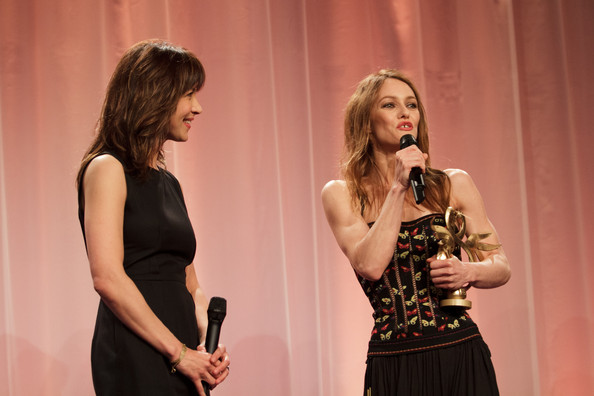 26th Cabourg Film Festival - June 16th [swann dhonneur,performance,talent show,event,yellow,fashion,singing,performing arts,fun,singer,competition,vanessa paradis,sophie marceau,actress,r,cabourg,france,l,cabourg film festival]
