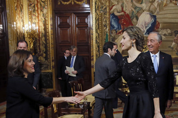 Soraya Saenz de Santamaria Spanish Royals Receives Portugal President