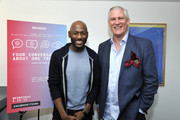 """(L-R) Romany Malco and David Bloom attend SoulPancake's """"Four Conversations about One Thing"""" at Hammer Museum on May 29, 2019 in Los Angeles, California."""