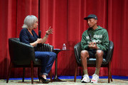 Gail Mitchell and Pharrell Williams perform onstage during Soundcheck: A Netflix Film and Series Music Showcase on November 04, 2019 in Los Angeles, California.