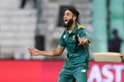 (SOUTH AFRICA OUT) Imran Tahir of South Africa during the 3rd ODI match between South Africa and New Zealand at Sahara Stadium Kingsmead on August 26, 2015 in Durban, South Africa.