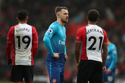 A dejected looking Aaron Ramsey of Arsenal during the Premier League match between Southampton and Arsenal at St Mary's Stadium on December 10, 2017 in Southampton, England.