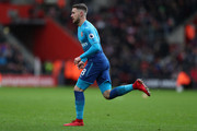 Aaron Ramsey of Arsenal during the Premier League match between Southampton and Arsenal at St Mary's Stadium on December 10, 2017 in Southampton, England.