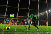Gareth Barry of Manchester City scores an own goal during the Barclays Premier League match between Southampton and Manchester City at St Mary's Stadium on February 9, 2013 in Southampton, England.