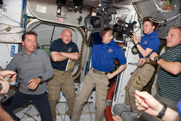 Roberto Vittori Space Shuttle Endeavour Launches Under Command Of Astronaut Mark Kelly