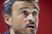 Luis Enrique, Spain Manager speaks to the press during the Spain Press Conference at Estadio Benito Villamarin on October 14, 2018 in Seville, Spain.