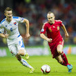 Jan Gregus and Andres Iniesta