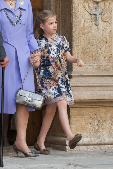 Princess Sofia of Spain attends the Easter Mass at the Cathedral of Palma de Mallorca on April 20, 2014 in Palma de Mallorca, Spain.