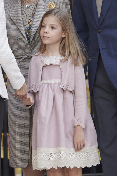 Princess Sofia of Spain attends the Easter Mass at the Cathedral of Palma de Mallorca on April 5, 2015 in Palma de Mallorca, Spain.