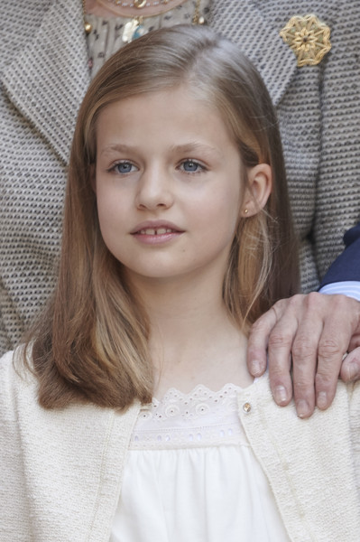 Princess Leonor of Spain attends the Easter Mass at the Cathedral of Palma de Mallorca on April 5, 2015 in Palma de Mallorca, Spain.