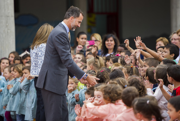 King Felipe VI of Spain and Queen Letizia of Spain attend the Opening of the School Courses on September 16, 2014 in Orense, Spain.