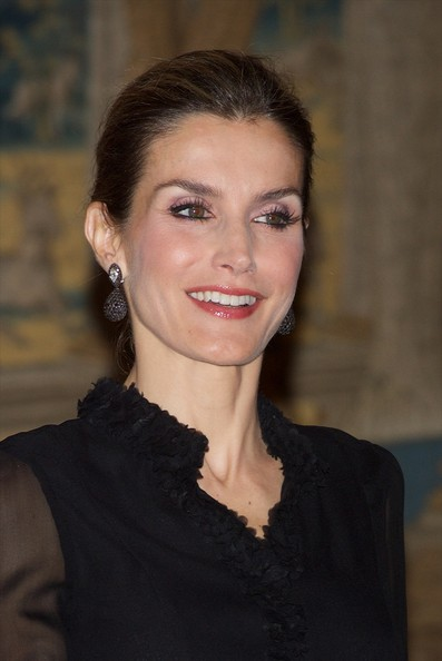 Queen Letizia of Spain hosts a reception at the El Pardo Palace on October 30, 2014 in Madrid, Spain.