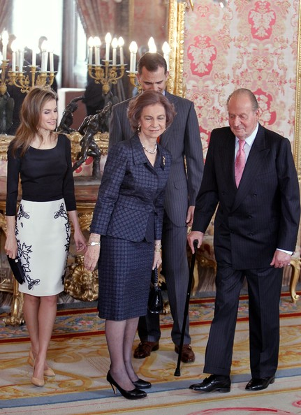 Spanish Royals Meet Famous Writers