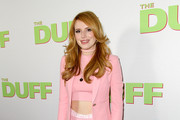 "Actress Bella Thorne attends a special Los Angeles fan screening of ""THE DUFF"" on February 12, 2015 in Los Angeles, California."